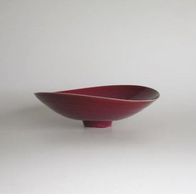 Open Bowl Copper Red Glaze 12 cm h x 35 cm d