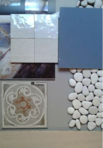 i colori bianco ghiaccio tortora e blu intenso